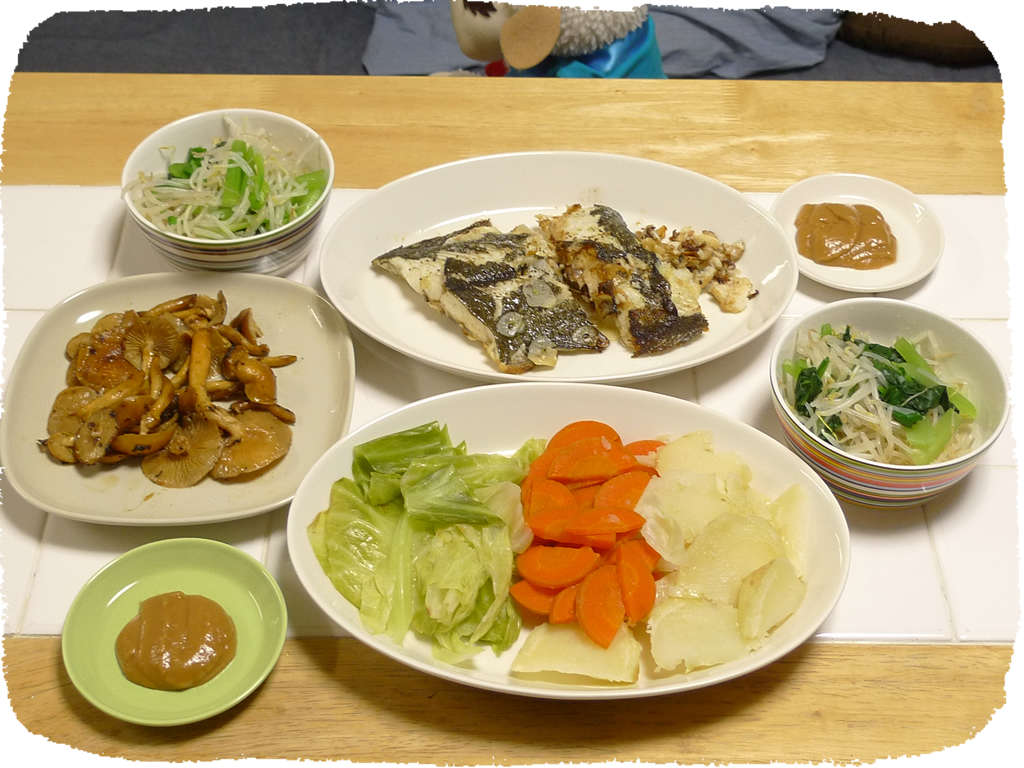 Bagna cauda flat fish gorori